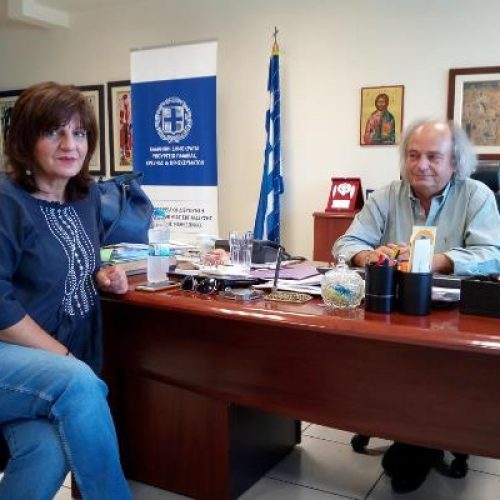 H Φρ. Καρασαρλίδου στον Περιφερειακό Δ/ντή Εκπαίδευσης για θέματα παιδείας  της Ημαθίας