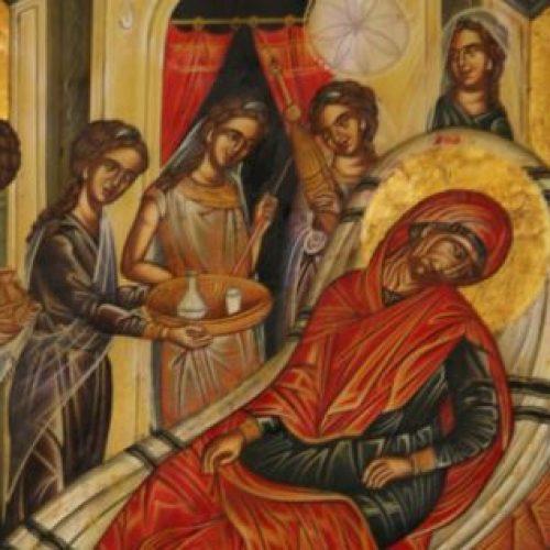"""""""Η Γέννηση της Θεοτόκου"""" δια χειρός Συμεών Ματσκάνη"""