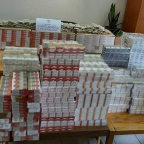 Συνελήφθησαν  για πάνω από 4.900 λαθραία πακέτα τσιγάρων και 12 κιλά λαθραίου καπνού