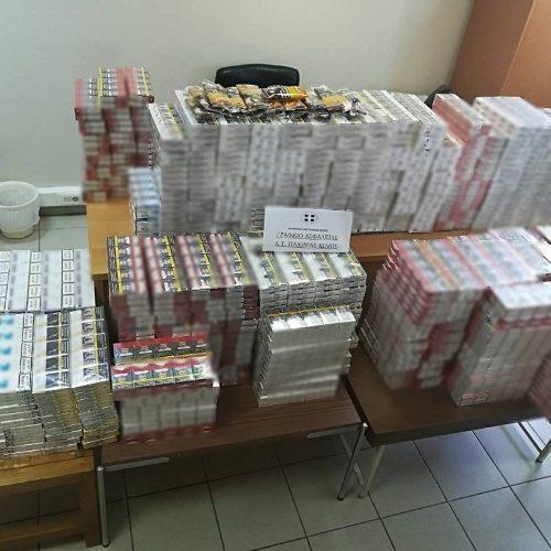 Συνελήφθη 48χρονη για λαθρεμπόριο τσιγάρων - Κατασχέθηκαν   πάνω από 5.000 λαθραία πακέτα τσιγάρων