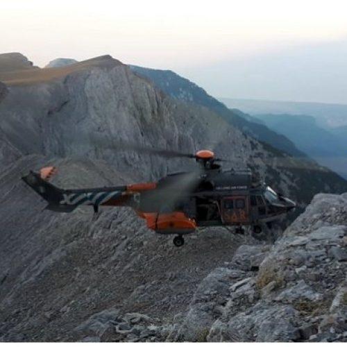 Επιχείρηση αερομεταφοράς ορειβάτισσας από τον Όλυμπο - Συμμετείχε στον 32ο Ορειβατικό Μαραθώνιο