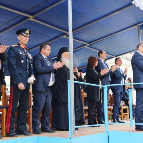 Με λαμπρή μαθητική και στρατιωτική παρέλαση γιορτάστηκε το ΟΧΙ στη Βέροια