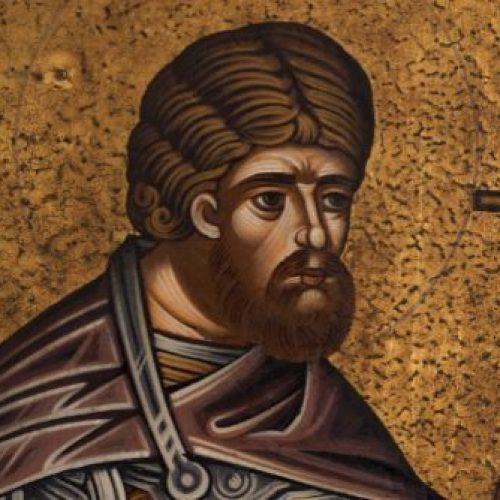 """""""Ο Άγιος Λογγίνος ο Εκατόνταρχος (ή Κεντυρίων)"""" δια χειρός Συμεών Ματσκάνη"""