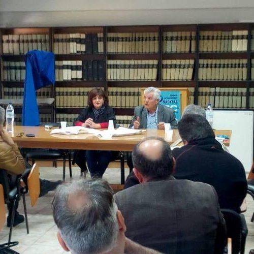 Τα Νοσοκομεία Βέροιας και Νάουσας επισκέφθηκε η βουλευτής Φρόσω Καρασαρλίδου