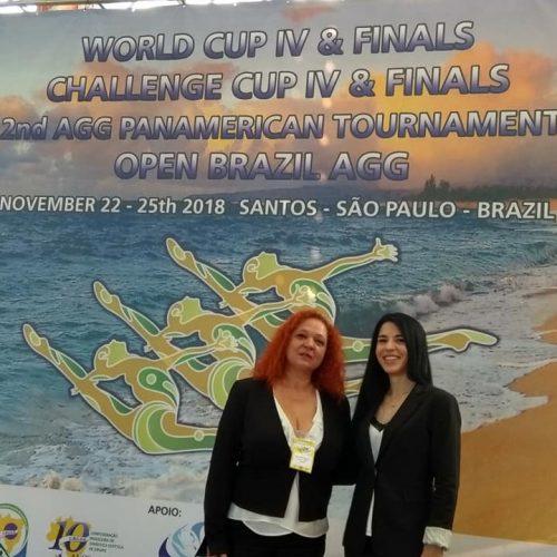 Στη Βραζιλία, ως   κριτές, οι προπονήτριες  Ρυθμικής - Αισθητικής γυμναστικής του Φίλιππου Βέροιας