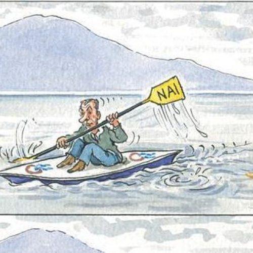 """Οι γελοιογράφοι σχολιάζουν: """"Πρέσπες και... Ποτάμι"""" - Ηλίας Μακρής"""