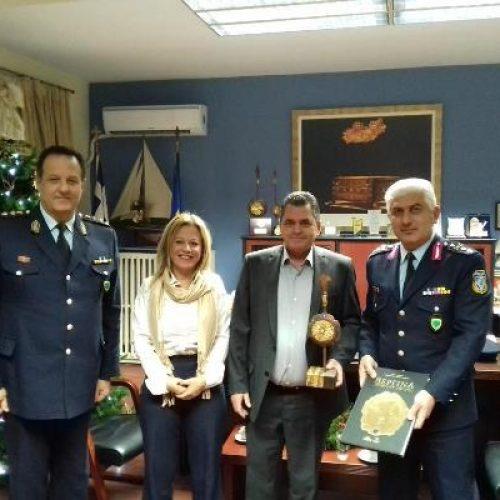 Επίσκεψη νέου Γενικού Περιφερειακού Αστυνομικού Διευθυντή Κ. Μακεδονίας στον Αντιπεριφερειάρχη Ημαθίας