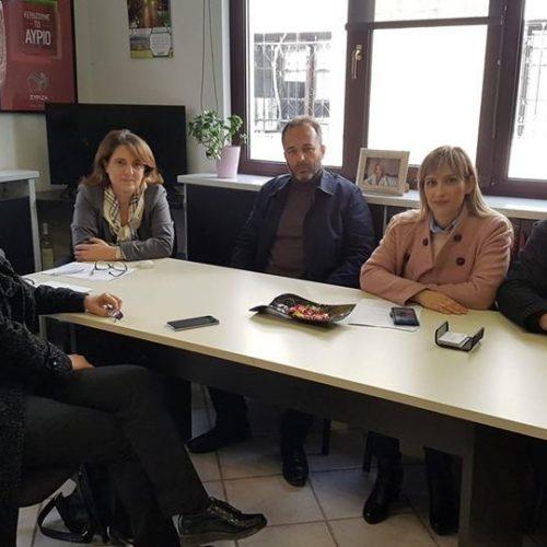 Συνάντηση Αγροτικού Συλλόγου Ημαθίας με την Υφυπουργό ΑΑ & Τ  Ολυμπία Τελιγιορίδου