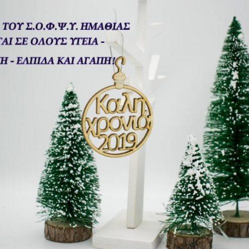 Ευχές για καλή χρονιά από τον ΣΟΦΨΥ Ημαθίας