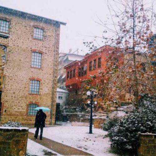 """""""Η Βέροια χιονισμένη"""" με το φακό της Βασιλικής Σιδηροπούλου-Καραμήτσου"""