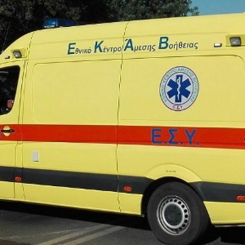 Τροχαίο δυστύχημα με σοβαρό τραυματισμό 33χρονου