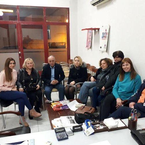 Συνάντηση του βουλευτή Ημαθίας  Χρήστου Αντωνίου με αντιπροσωπεία εργαζομένων στα ΚΔΑΠ και ΚΔΑΠ ΑμεΑ Αλεξάνδρειας