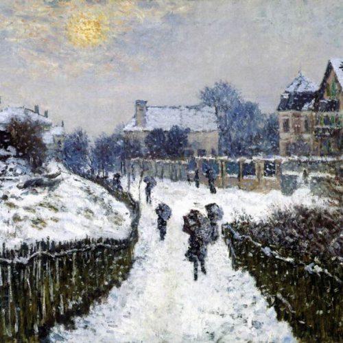 Οι χιονισμένοι πίνακες του Κλοντ Μονέ