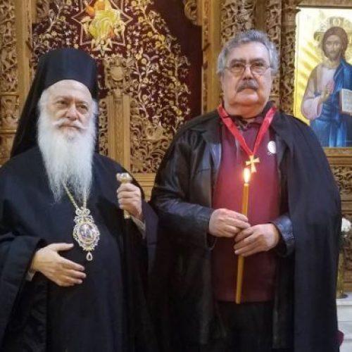 Ευχαριστήριο Αντώνη Καγκελίδη προς τον Οικουμενικό Πατριάρχη Βαρθολομαίο και Μητροπολίτη Παντελεήμονα