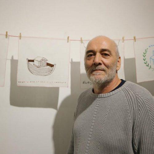 """Νίκος Τερζής """"Κεντώντας μαντήλια ή σουδάρια"""" -  Εγκαίνια μιας καυστικής έκθεσης, πορτρέτο της σημερινής Ελλάδας"""