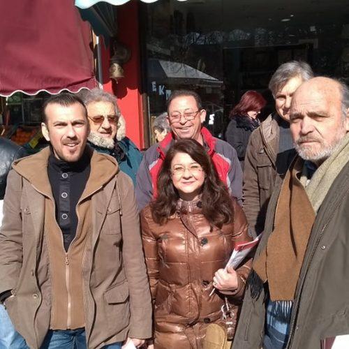 Σε εμπορικά καταστήματα και λαϊκή αγορά  αντιπροσωπεία της Λαϊκής Συσπείρωσης Αλεξάνδρειας