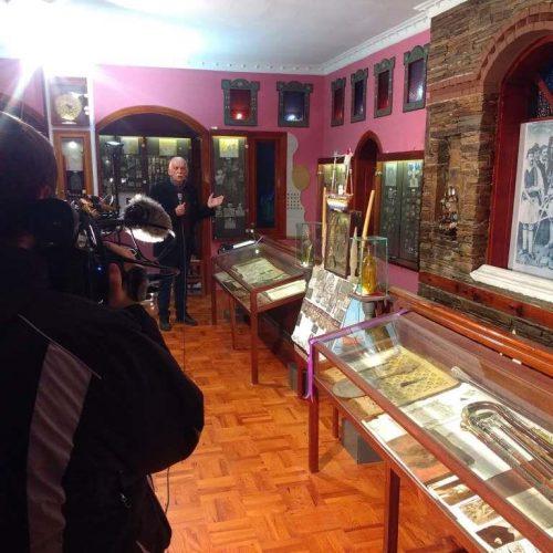 """Ο αντάρτης επίσκοπος Κίτρους Νικόλαος Λούσης και  εκθέματα του στο εθνογραφικό κέντρο """"Γιώργης  Μελίκης"""""""