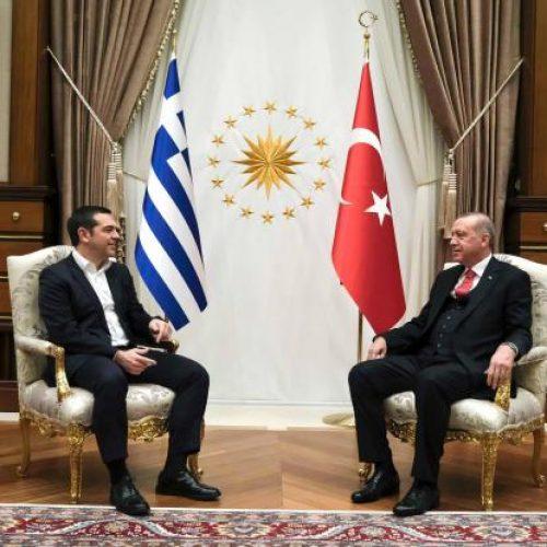 Ολοκληρώθηκε η κατ' ιδίαν συνάντηση Τσίπρα - Ερντογάν (Video)