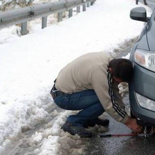 Νέος χιονιάς - Αντιολισθητικές αλυσίδες  σε περιοχές της Κ. Μακεδονίας