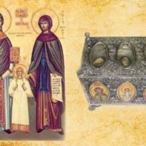 Υποδοχή Ιερών Λειψάνων των Αγίων Ραφαήλ, Νικολάου & Ειρήνης στην Πατρίδα Βέροιας, σήμερα 30 Μαρτίου