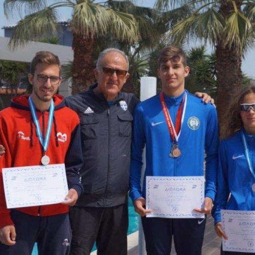 Αργυρά μετάλλια   Μποχώρη και  Στάμος στο Παν/νιο Πρωτάθλημα Βάδην
