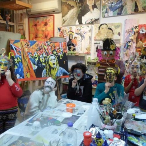 Ευχές για Καλές Απόκριες από το Καλλιτεχνικό Εργαστήρι της Κωνσταντίας Αμπατζόγλου