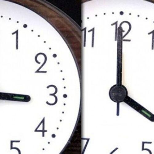 Η Θερινή ώρα -  Μία ώρα τα ρολόγια μπροστά