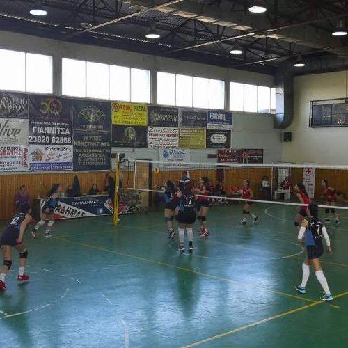 """Βόλεϊ γυναίκες:  ΓΑΣ """"Αλεξάνδρεια"""" - Μέγας Αλέξανδρος Γιαννιτσών (3-0)"""