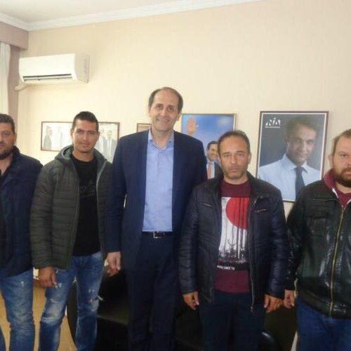 Συνάντηση Αγροτικού Συλλόγου Ημαθίας με τον βουλευτή Απ. Βεσυρόπουλο για φλέγοντα αγροτικά ζητήματα
