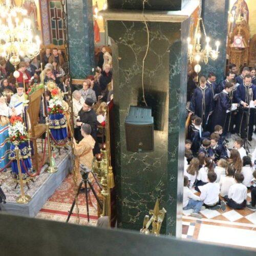 """Ο Ακάθιστος Ύμνος στον Άγιο Αντώνιο της Βέροιας από τη Βυζαντινή Χορωδία """"Ειρμός"""" σε κλίμα βαθιάς θρησκευτικής κατάνυξης"""