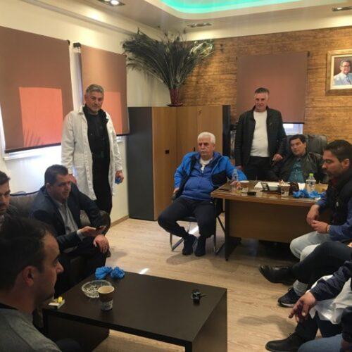 Ενημερωτική επίσκεψη του Κώστα Καλαϊτζίδη στο Σφαγείο Βέροιας