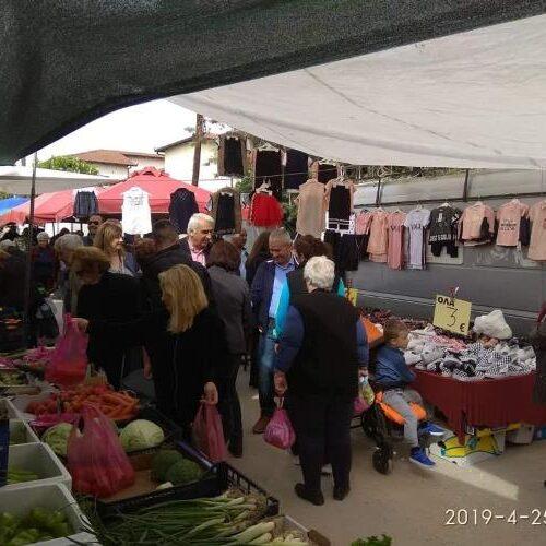 Τη Λαϊκή Αγορά της Μελίκης επισκέφτηκε ο Μιχάλης Χαλκίδης