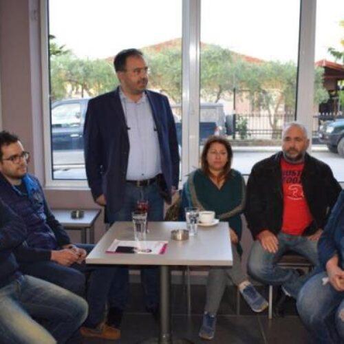 """Εγκαινίασε τους """"Δημοσίους Διαλόγους"""" σε τοπικές κοινότητες ο Κ. Βοργιαζίδης"""