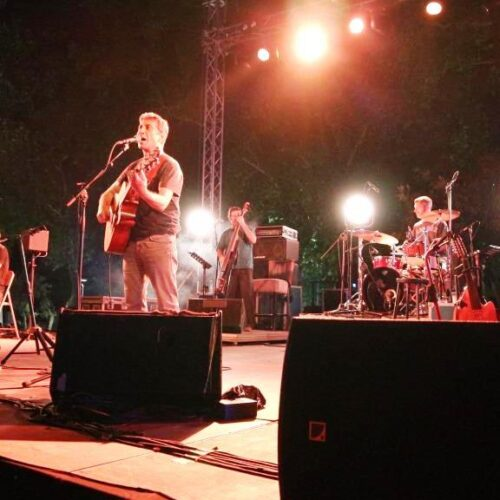 Εύηχη Πόλη - Ο Σωκράτης Μάλαμας στη Βέροια σε μια συναυλία ποταμό