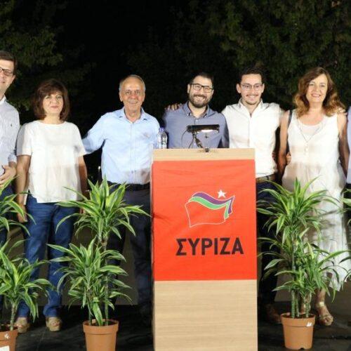 """Ο Νάσος Ηλιόπουλος στη Βέροια: """"Να μη χαθούν όσα ο ΣΥΡΙΖΑ οικοδόμησε - Μπορεί να καλυφθεί η διαφορά"""""""