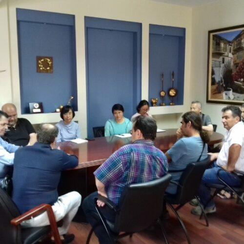 Επίσκεψη Κινέζων επιθεωρητών της Γενικής Διοίκησης Τελωνείων στον Κώστα Καλαϊτζίδη