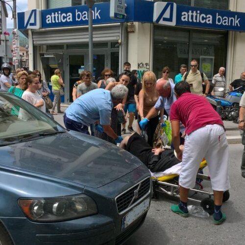 Ατύχημα στο κέντρο της Βέροιας