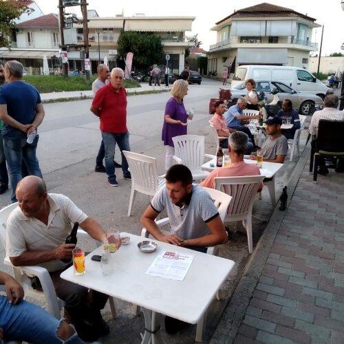 Περιοδεία σε Ριζώματα - Σφηκιά Βέροιας και Επισκοπή Νάουσας πραγματοποίησε κλιμάκιο του ΚΚΕ