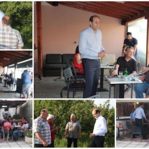 Σε χωριά της Νάουσας  και στην Πυροσβεστική Υπηρεσία ο Απόστολος Βεσυρόπουλος
