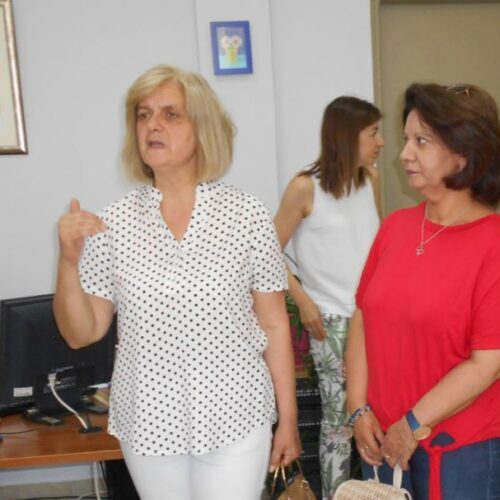 Επισκέψεις στις Βιβλιοθήκες και σε Δομές του Δήμου Βέροιας οι  υποψήφιες βουλευτίνες του ΚΚΕ