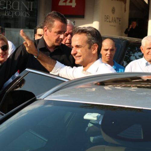"""Ο Κυριάκος Μητσοτάκης στη Βέροια: """"Η μόνη δύναμη που εγγυάται ασφάλεια είναι η ΝΔ - Πάμε για αυτοδυναμία!"""""""