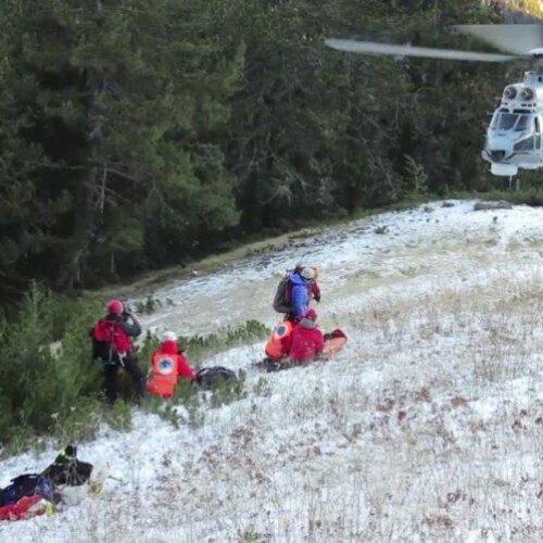 Ατύχημα στον Όλυμπο: Super Puma μετέφερε την 37χρονη ορειβάτη τα ξημερώματα στο νοσοκομείο