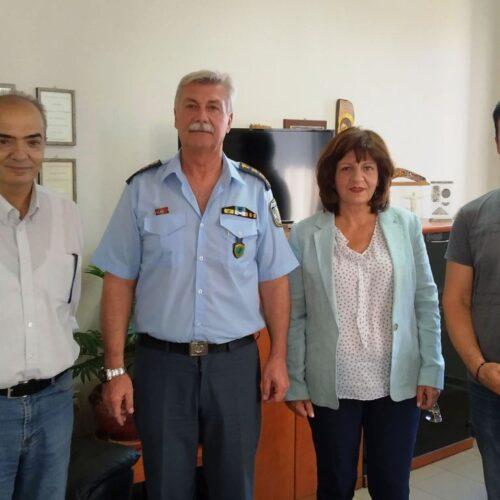 Επίσκεψη της Φρόσως Καρασαρλίδου στην Αστυνομική Διεύθυνση Ημαθίας