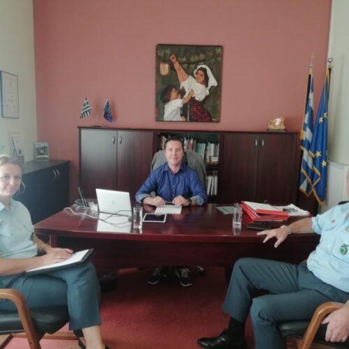 Συνάντηση του Διευθυντή της Διεύθυνσης Αστυνομίας Ημαθίας με του Δημάρχους Νάουσας και Αλεξάνδρειας
