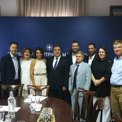 Η Ένωση των Ξενοδόχων της Ημαθίας στα πλαίσια της 84ης ΔΕΘ σε σύσκεψη για την ανάπτυξη του τουρισμού