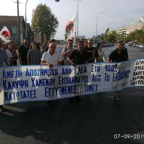 """Ο Αγροτικός Σύλλογος Νάουσας """"Μαρίνος Αντύπας"""" στο συλλαλητήριο του ΠΑΜΕ στη ΔΕΘ"""