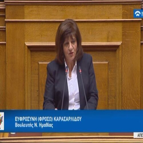 Φρ. Καρασαρλίδου: Το νομοσχέδιο της κυβέρνησης για τις επενδύσεις εξυπηρετεί τους λίγους και όχι την εθνική οικονομία