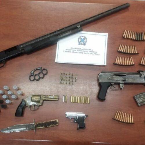 Από το Τμήμα Ασφάλειας Αλεξάνδρειας εντοπίσθηκαν παράνομα όπλα και φυσίγγια σε επιχείρηση στην Ημαθία