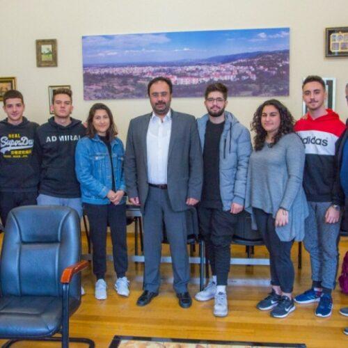 Μαθητές του 5ου ΓΕΛ Βέροιας συναντούν τον Δήμαρχο Βέροιας