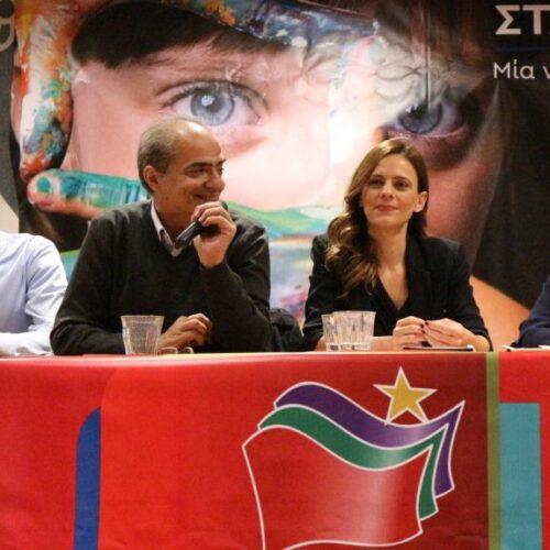 """Η Έφη Αχτσιόγλου στη Βέροια: """"Δεν είναι το κόμμα ο στόχος μας, είναι η κοινωνία"""""""